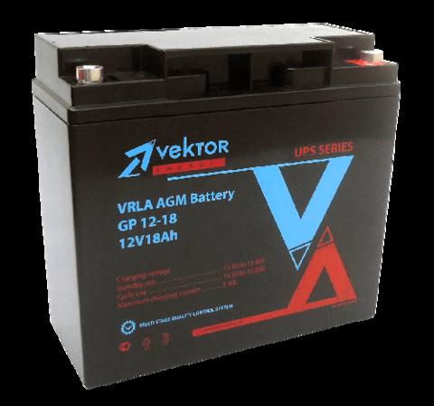 Аккумулятор VEKTOR ENERGY GP 12-18