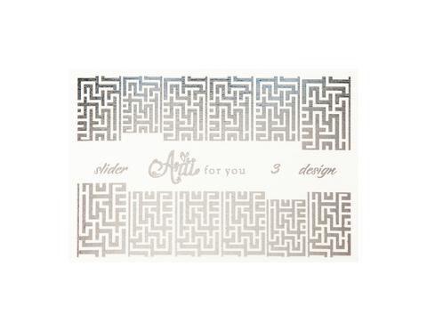 Фольга для дизайна ногтей цвет серебро 3 купить за 120руб