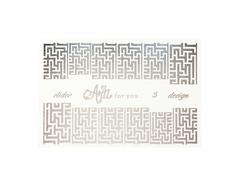 Фольга для дизайна ногтей цвет серебро 3