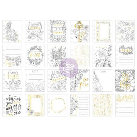 Журнальные карточки My Prima Planner Watercolor Journaling Cards -Be Free Foiled Prints -24шт.
