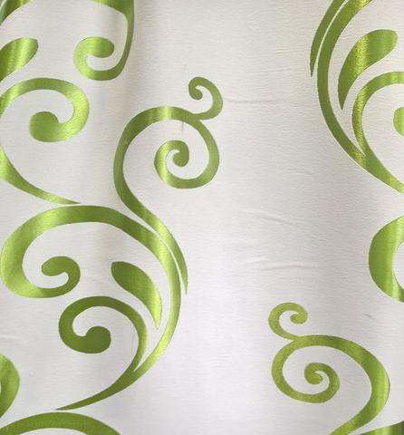 Блэкаут двухсторонний с рисунком для штор зеленая. Ширина - 280 см. DJ-BL/KR23