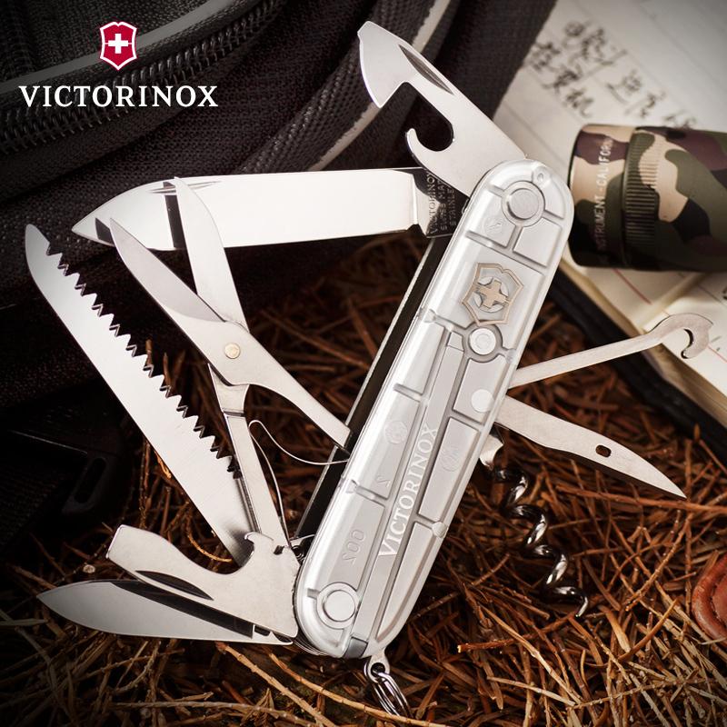 Складной нож Victorinox Huntsman SilverTech (1.3713.T7) 91 мм., 15 функций, серебристый - Wenger-Victorinox.Ru