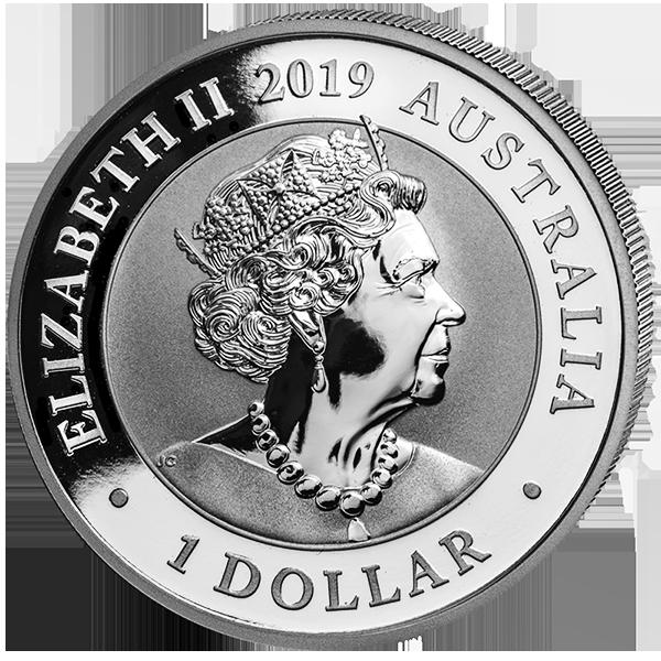 1 доллар. Лебедь. Австралия. 2019 год