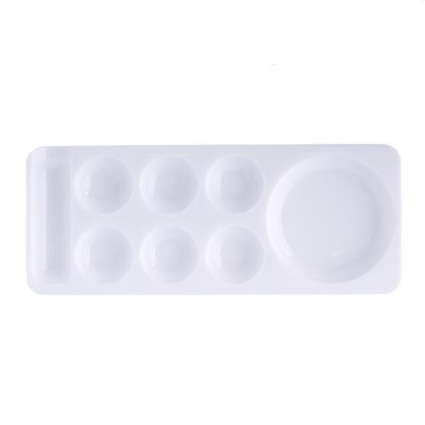 Палитра для разведения цветных гелей, красок с ячейками (узкая) - белая
