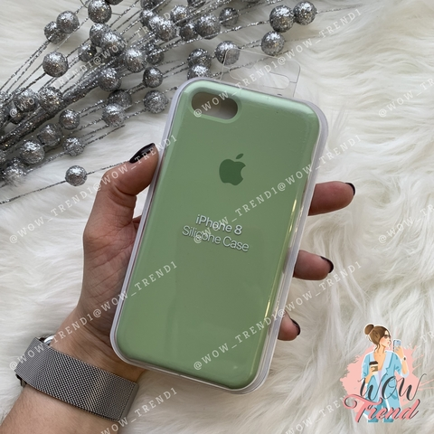 Чехол iPhone 7/8 Silicone Case /mint gum/ фисташка 1:1