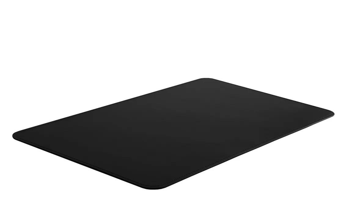 Бювар из итальянской кожи Cuoietto прямоугольный с закругленными углами цвет черный серия