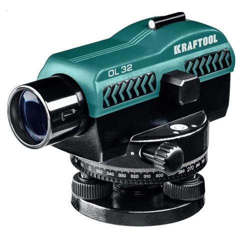 Оптический нивелир OL-32 увеличение 32Х рабочий диапазон 122 м, KRAFTOOL