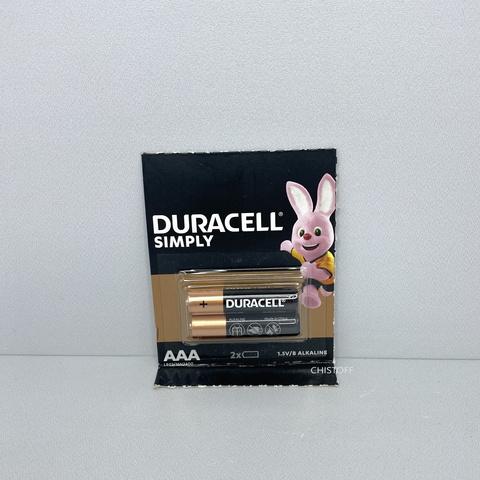 Батарейка Duracell AAA 1.5V Alkaline (2 шт.)