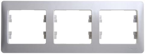 Рамка на 3 поста, горизонтальная. Цвет Перламутр. Schneider Electric Glossa. GSL000603