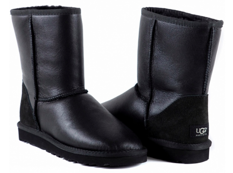 UGG Classic Short Metallic Black