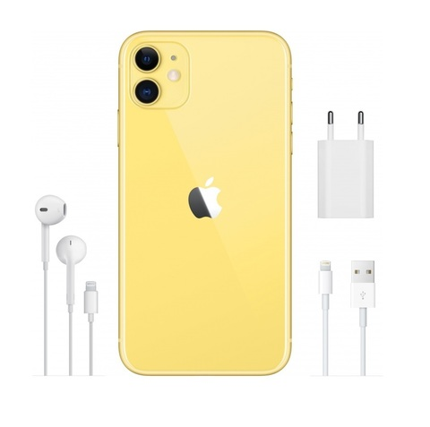 Смартфон Apple iPhone 11 64GB Yellow (желтый) - РОСТЕСТ-