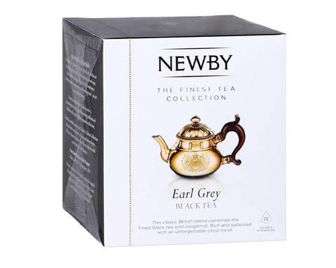 Чай черный в пирамидках Newby Earl grey, 15 пак/уп