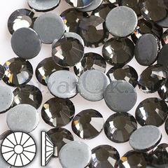 Стразы горячей фиксации клеевые стеклянные термостразы Black Diamond Блэк Даймонд серый купить оптом на StrazOK.ru
