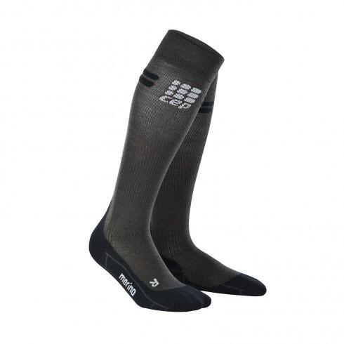 Для занятий спортом Компрессионные гольфы CEP с шерстью мериноса для занятий спортом в холодное время года 2_cep_run_merino_socks_anthracite_black.jpg