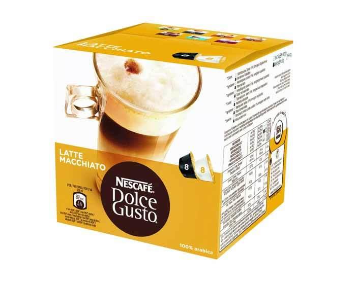 Кофе в капсулах Dolce Gusto Latte Macchiato, 16 капсул
