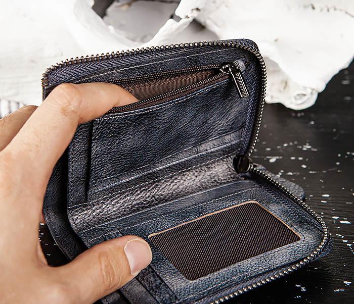 WL331-3 Мужской кошелек из кожи со вкладышем и монетницей фото 10