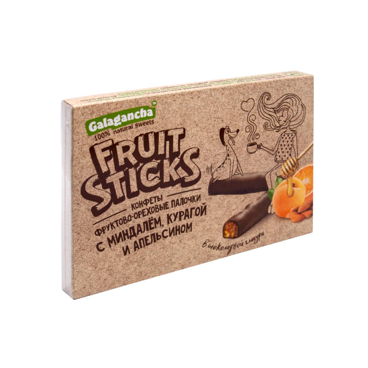 FruitSticks с курагой и миндалём в шоколадной глазури