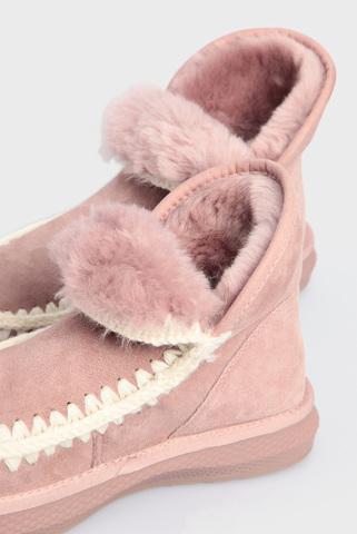Женские розовые замшевые угги PRPY