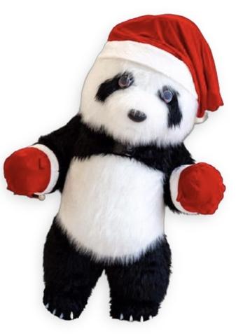 Новогодняя ростовая Панда
