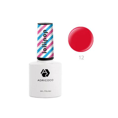 Гель-лак ADRICOCO Lollipop №12 - Вишневный леденец  (8 мл.)