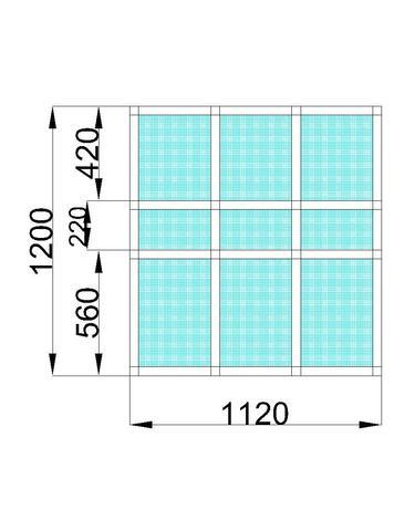 Окно веранда 1,12х1,2 (В) мм 9-ячеек глухое