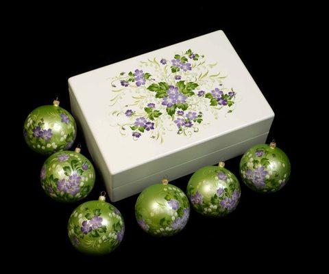 Набор из 6 елочных шаров в шкатулке SET04D-667785778