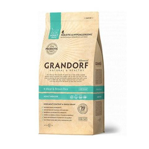2 кг. GRANDORF Сухой низкозерновой корм для домашних кошек с пробиотиками