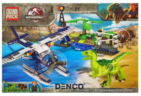 Мир Юрского периода 69012 Нападение динозавров на гидросамолет 359 дет Конструктор