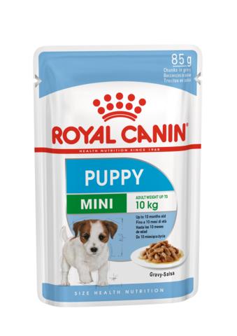 Корм Royal CANIN MINI PUPPY для щенков маленьких пород в соусе 85 гр