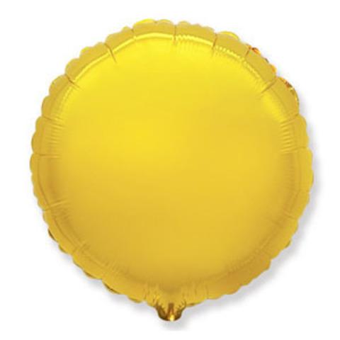 Шар круг 82 см золото