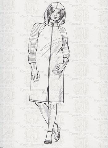 Выкройка халата реглан с капюшоном