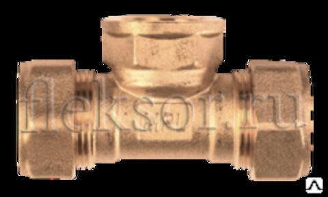 Тройник труба-внутренняя резьба(мама)-труба TF 25-1-25 - Hydrosta Flexy