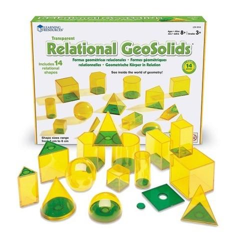 LER0918 Набор объемных геометрических фигур Взаимосвязи, 14 шт. Learning Resources