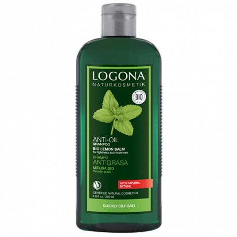 LOGONA, Шампунь для жирных и комбинированных волос с Экстрактом Мелисcы, 250мл