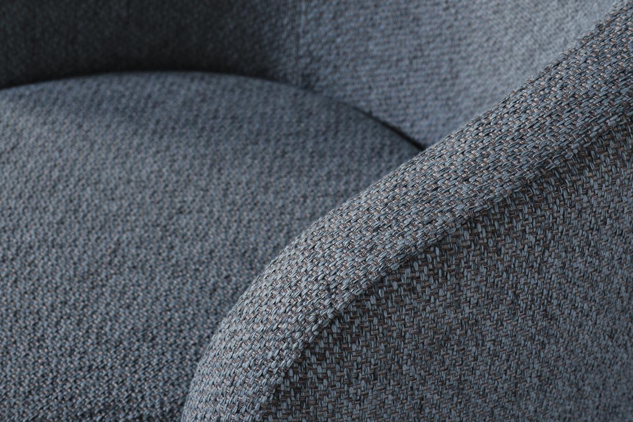 Кресло вращающееся серое (рогожка) (76AR-7384GOLD-GRB) Garda Decor