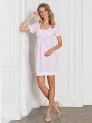 Vivamama. Платье домашнее Betty, розовая клетка вид 2