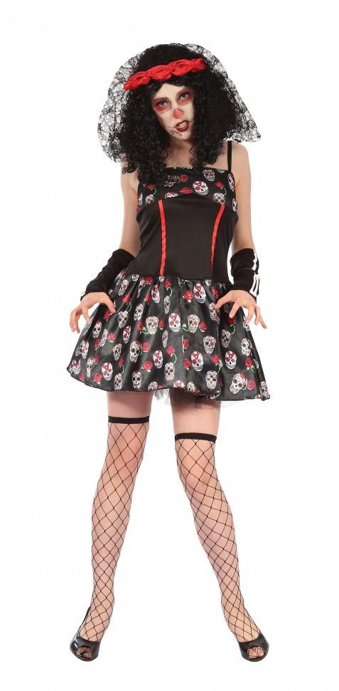 Платье-Череп День мертвых