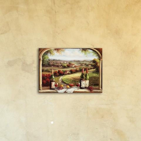 Картина на холсте под стеклом