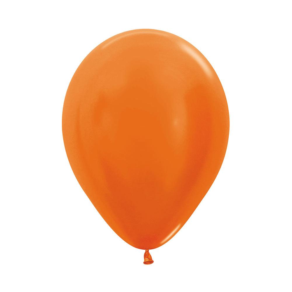 Латексный воздушный шар, цвет оранжевый металлик