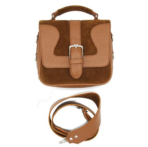 маленькая коричневая кожаная сумка
