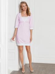 Vivamama. Платье домашнее Betty, розовая клетка вид 1