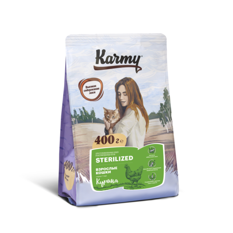 Karmy Sterilized Курица, 0,4кг.