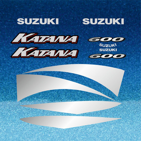 Набор наклеек на мотоцикл SUZUKI GSX-F 600 KATANA 2000