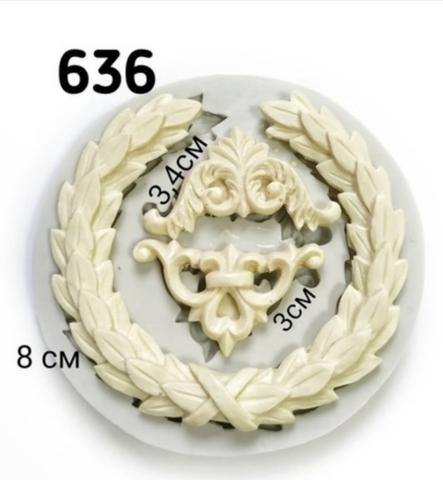 Молд Венок с уголками , диам. 8см., Арт.PO-0636, силикон