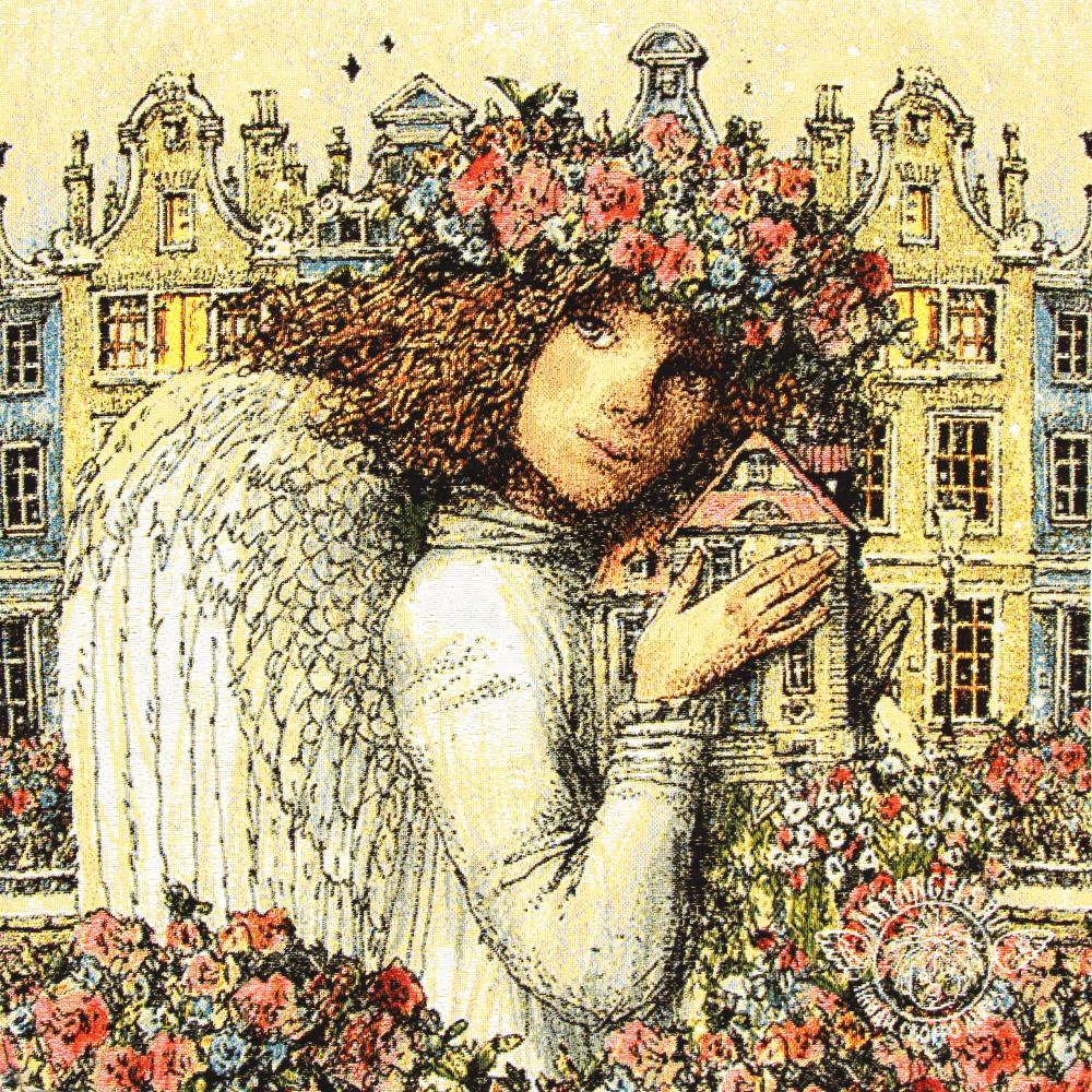 №7 «Домашний ангел» Наволочка гобеленовая 45х45 см