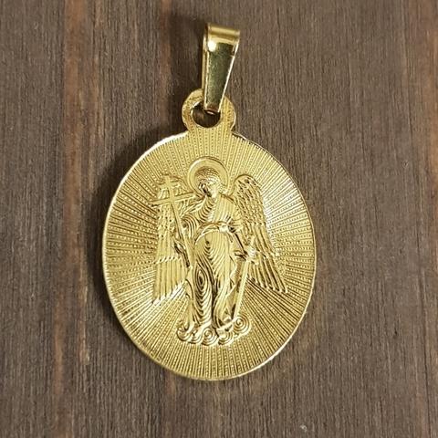 Нательная именная икона святая Кристина с позолотой