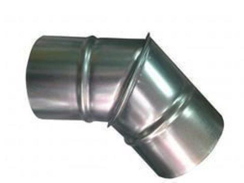 Отвод (угол) 45 градусов D 125 оцинкованная сталь