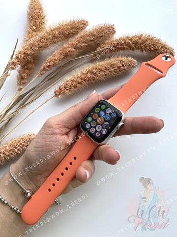 Ремешок Apple watch 38/40mm Sport Band /orange clementine/