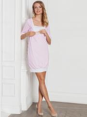 Vivamama. Платье домашнее Betty, розовая клетка вид 3