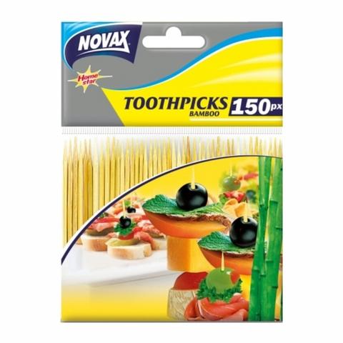 Зубочистки NOVAX бамбук 150 шт УКРАИНА